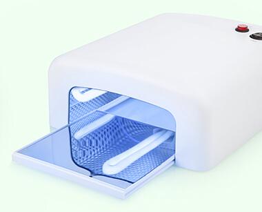 仮硬化用UVランプ自然光でもOK