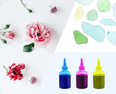 封入する素材・顔料花材・ストーン類・ガラス・写真など